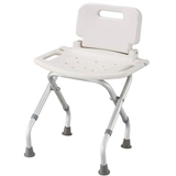 YCH-01S16H01 Bath Safety Foldable bath bench w/ back- Bath Seat