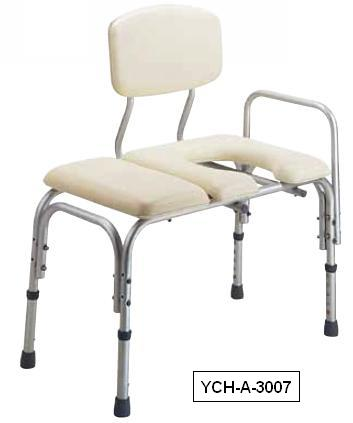 YCH-01T05H01 Bath Safety Adjustable transfer bench w/backrest- Bath Seat