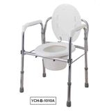 YCH-B-1010A Bath Safety Steel commode with backrest- Commode