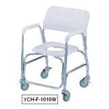 YCH-F-1010W Bath Safety Deluxe aluminum shower chair w/swivel caster- Commode