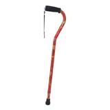 YCH-C8005 Walking Aids Offset style Floral Telescopic Cane-Canes