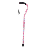 YCH-C8006 Walking Aids offset style Floral Telescopic Cane-Canes