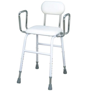 Living Aids Adjustable Kitchen Stool With Arms and Backrest ...