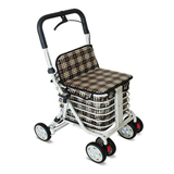 YCH-006A Walking Aid Powder Coated Aluminum Foldable Shopping Cart