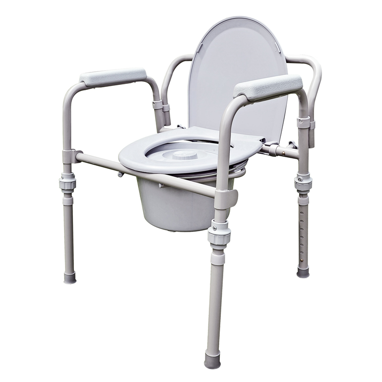 YCH-211OKDR Bath Safety Folding commode- Commode