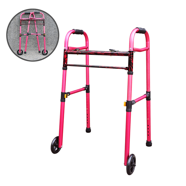 YCH-U1221R Walking Aid 2 in 1 Folding Walker- Walker