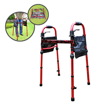 "YCH-14025F Walking aid Travel Walker W/5"" Wheels- Walker"