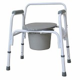 YCH-01C02L01 Bath Safety Steel Commode- Commode