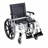 YCH-W-1002 Mobile Commode Shower Chair-Wheelchairs