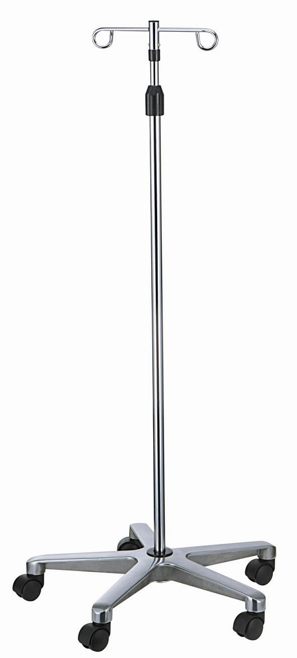 Hospital Furniture Iv Pole With Aluminium Base Medical